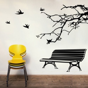 Bench and Branch wall sticker